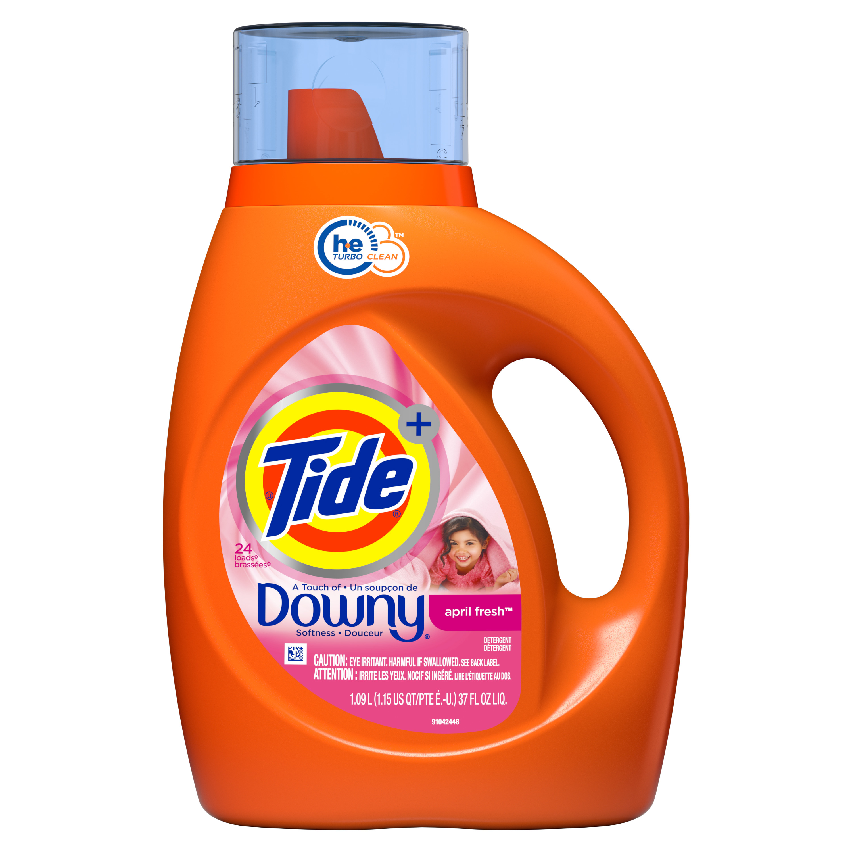 Tide plus Downy, Liquid Laundry Detergent, April Fresh, 24 Loads 37 fl oz