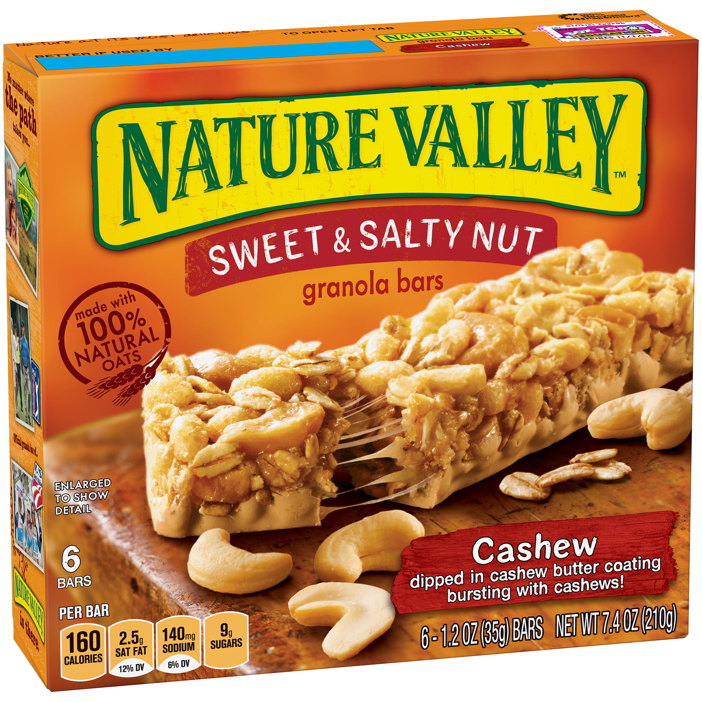 Nature Valley��� Cashew Sweet & Salty Nut Granola Bars 6 ct Box