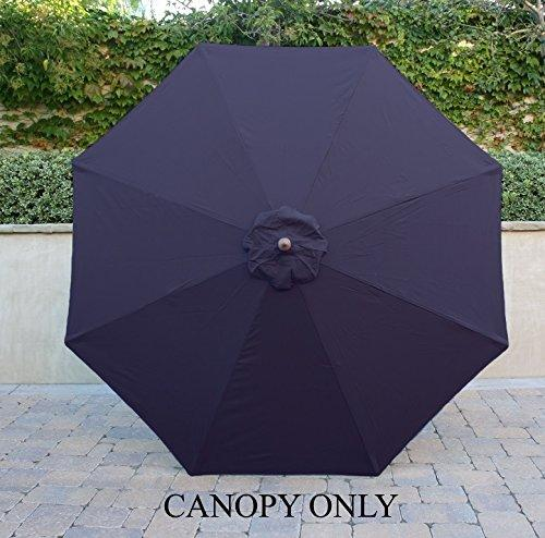 Formosa Covers 9ft Umbrella Replacement Canopy 8 Ribs in Navy (Canopy Only)