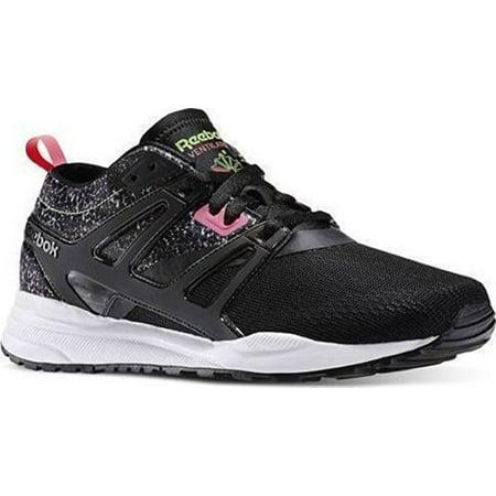 Reebok Mens Ventilator Adapt Graphic Running Shoes Black   Sushi Green   Solar  Pink   White - Walmart.com 389facc6d