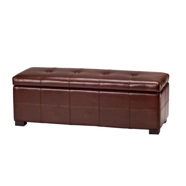 Safavieh Maiden Large Rustic Flip Top Tufted Storage Bench Walmart Com Walmart Com