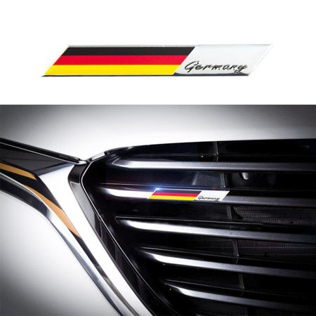 Xotic Tech Aluminum Plate Decal 3D Germany Flag Emblem Badge Sticker for Car Front Grille Side Fender Trunk