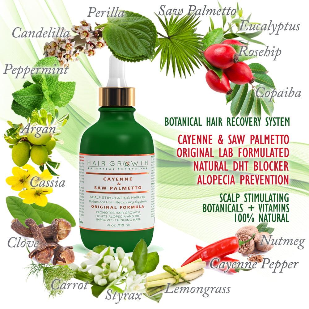 Anti Hair Loss Botanical Scalp Treatment Cayenne Saw Palmetto 4