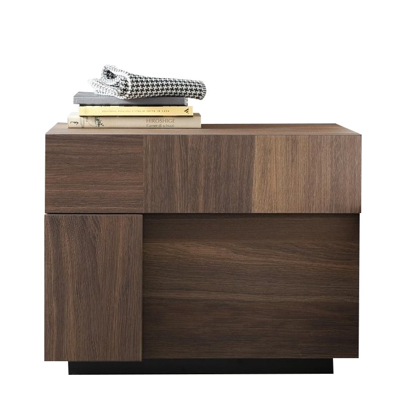 Rossetto Air Left 1 Drawer Night Stand in Warm Oak by Rossetto