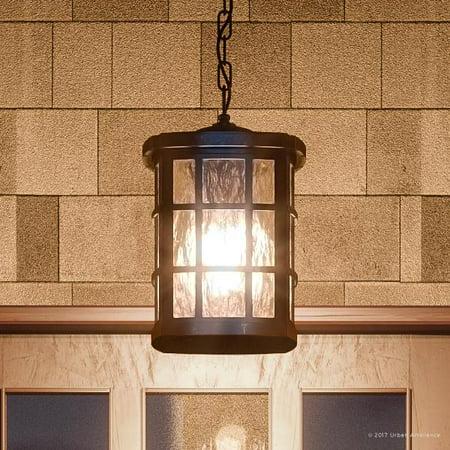 Urban Ambiance Luxury Craftsman Outdoor Pendant Light, Medium Size: 15
