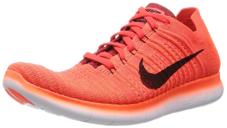 Nike Men's Free Rn Flyknit Running Shoe-BrightCrimson/Blck