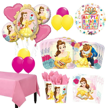 Beauty And The Beast Birthday Supplies (The Ultimate 8 Guest 53pc Beauty and The Beast Birthday Party)