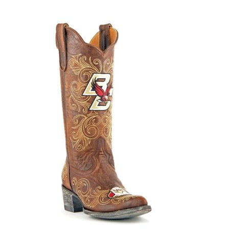 Gameday Boots Womens College Boston College Eagles Brass