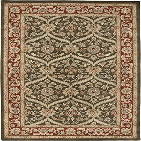 Image of Amer Boniface Design Hand-Tufted Rug, 2 by 3-Feet, Cocoa Brown/Red