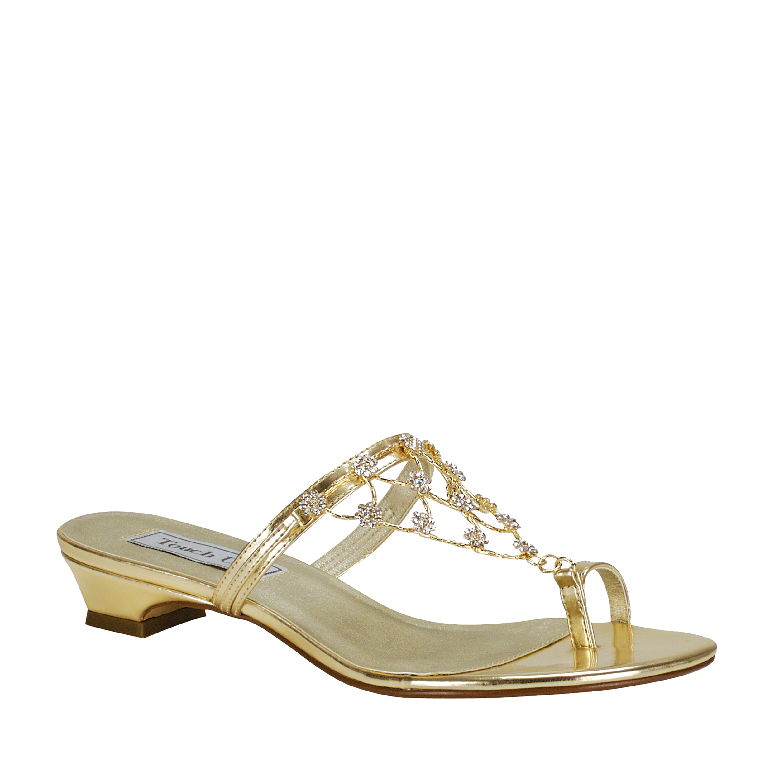 Touch Ups Womens Marcella Sandal,Gold,9.5 M