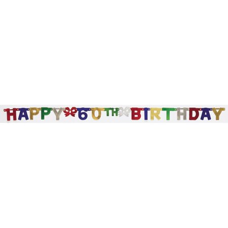 Creative Converting 60th Birthday Party Banner](60th Bday Decorations)