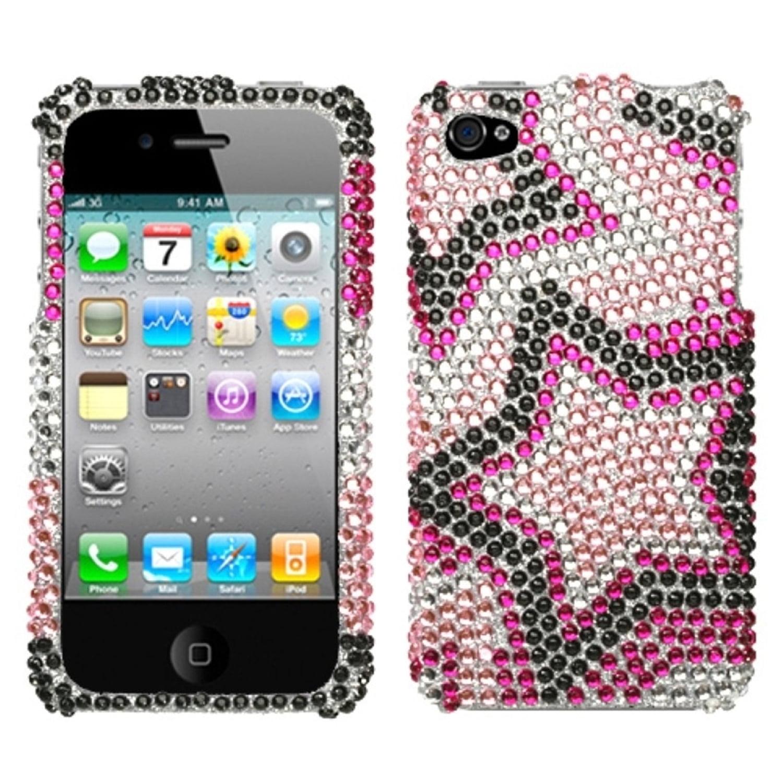 Insten Twin Stars Diamante Case For iPhone 4 4S