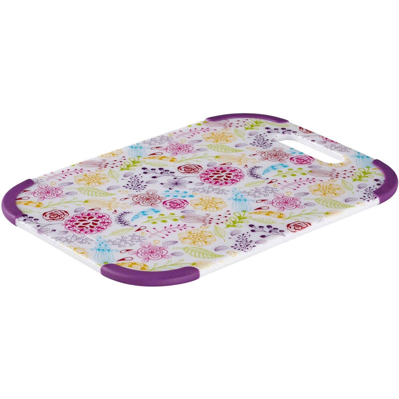 Farberware Colourworks 10 Inch X 14 Inch Antho Poly Cutting Board