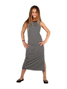 8ed4a722f Product Image Lori & Jane Girls Gray White Stripe Sleeveless Trendy Casual  Dress