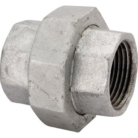 Worldwide Sourcing Ground Joint Pipe Union, 2 In, Threaded, 150 Psi, Malleable Iron, Galvanized