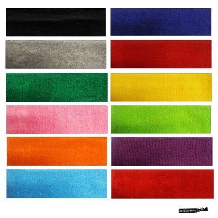 Kenz Laurenz Sweatbands 12 Terry Cotton Sports Headbands Sweat Absorbing Head Band (Headsweats Cotton Headband)