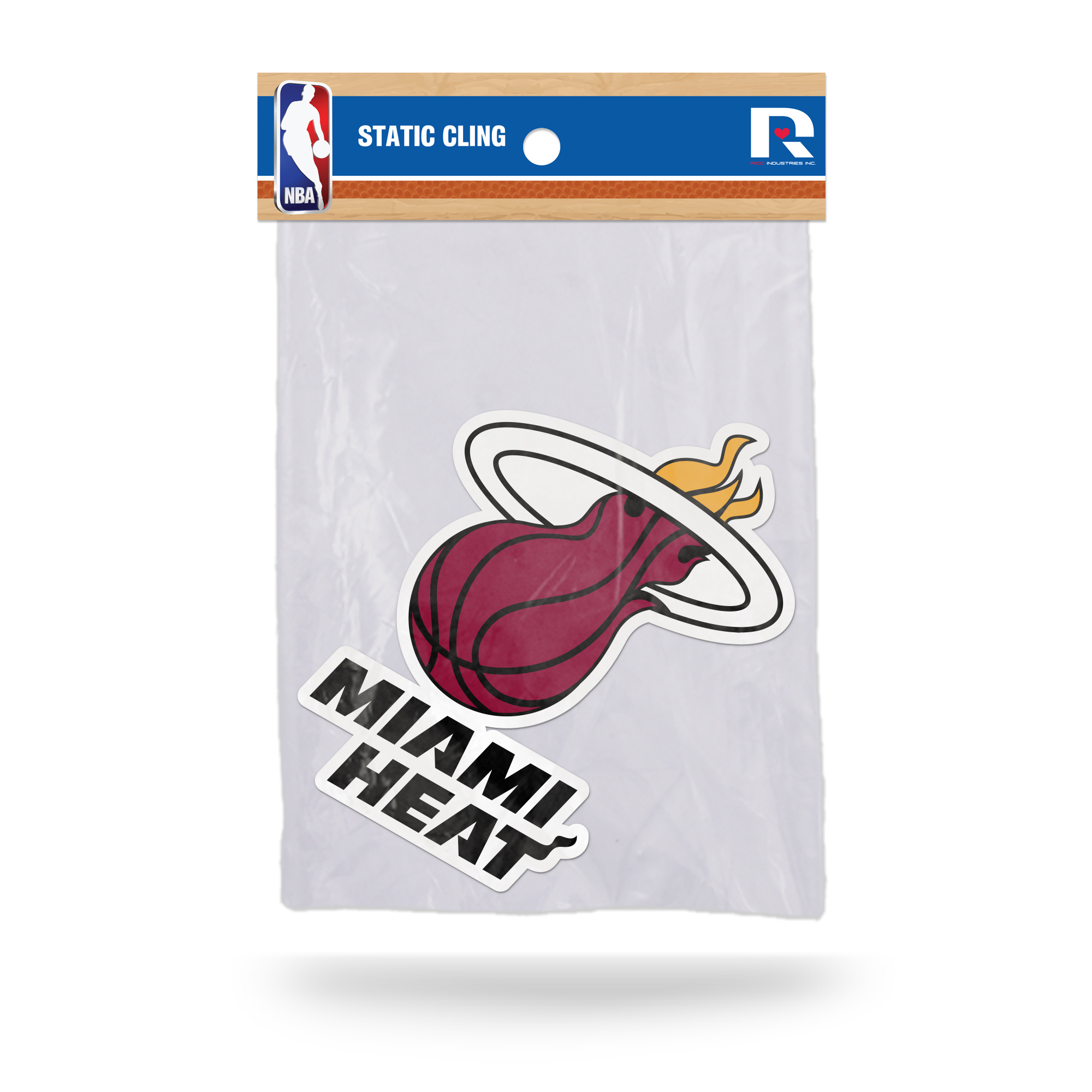 Miami Heat Official NBA 5 inch  Car Window Cling Decal by Rico