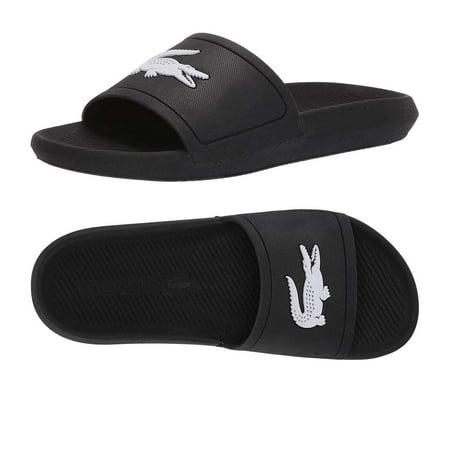 Lacoste Women's Croco Slides Summer Beach & Pool Sandals Croco Embossed Sandal