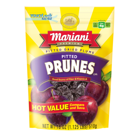 (2 Pack) Mariani Premium Pitted Dried Prunes, 18 Oz