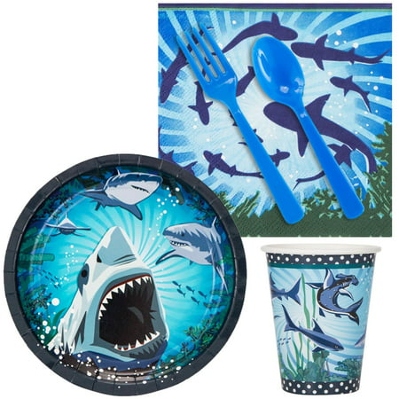 Shark Party Snack pack For 16 (Shark Supplies)