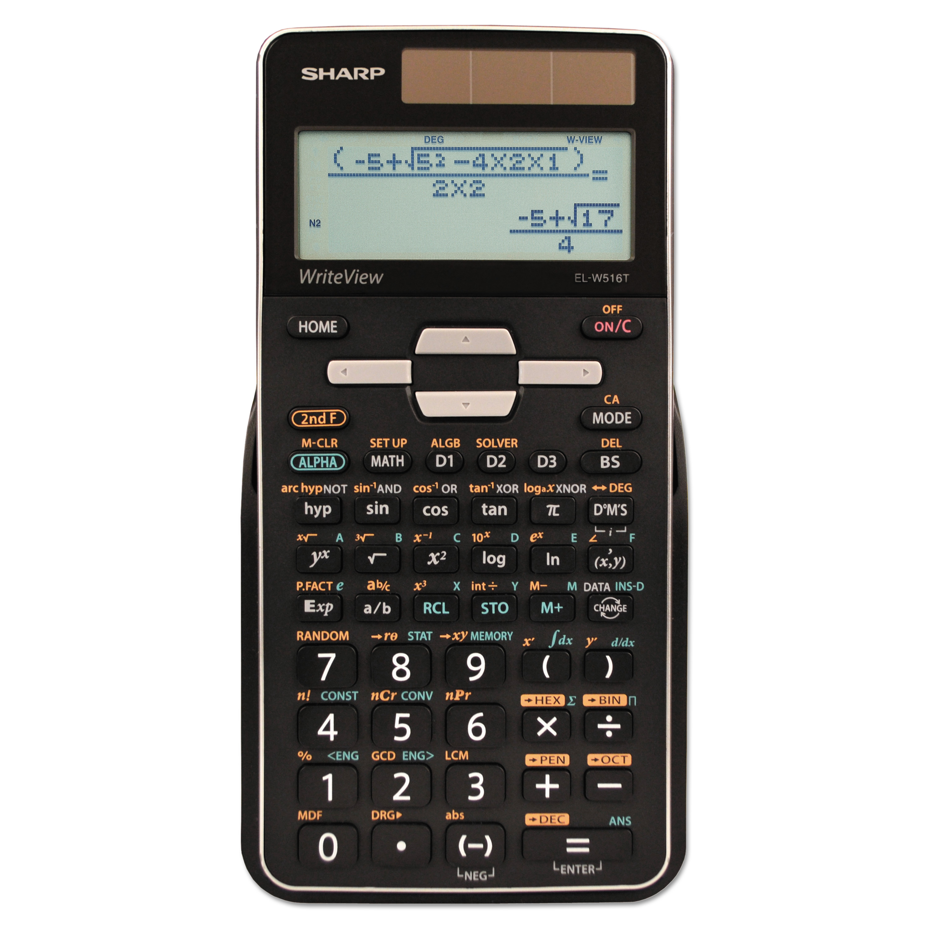 Sharp EL-W516TBSL Scientific Calculator, 16-Digit LCD -SHRELW516TBSL