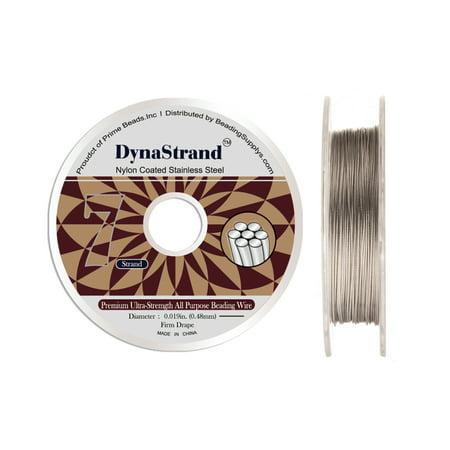 0.375 Inch 3 Strand - Dynastrand Beading Wire 7 Strand Firm 0.019 Inch Diameter 30 foot spool