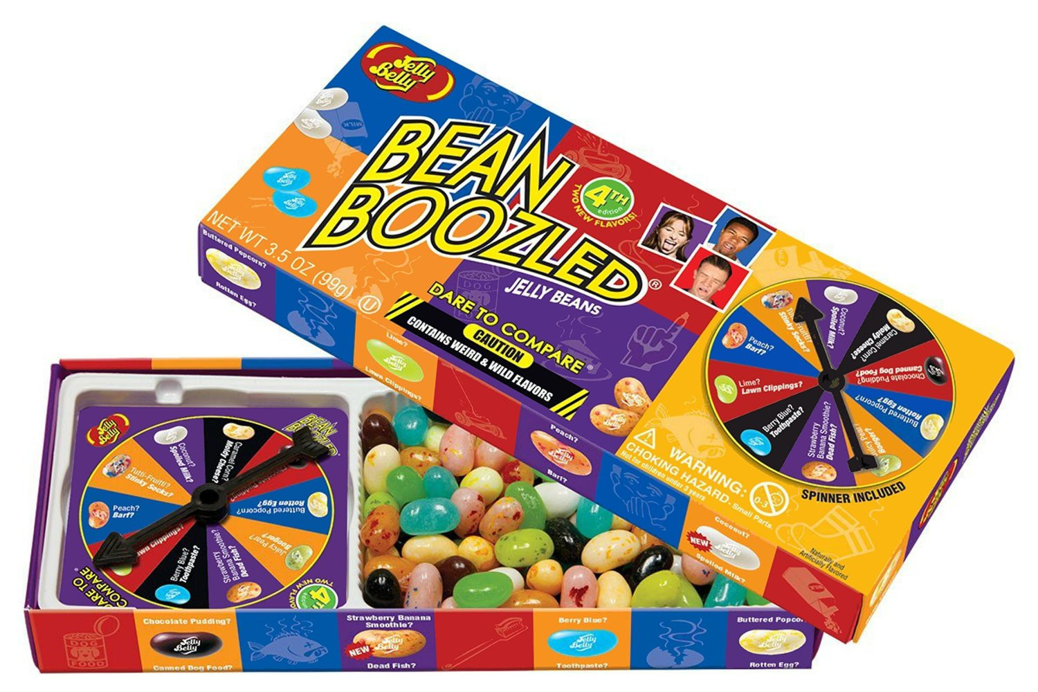 Jelly Belly BeanBoozled Spinner Box, 3.5 oz, 3 Count by Jelly Belly Candy Company