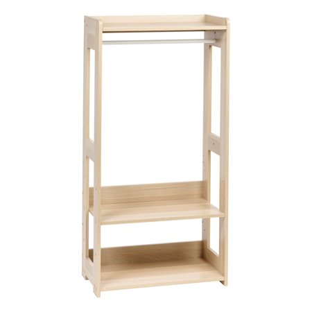 Wood Saddle Rack (IRIS Compact Wood Garment Rack, Natural )