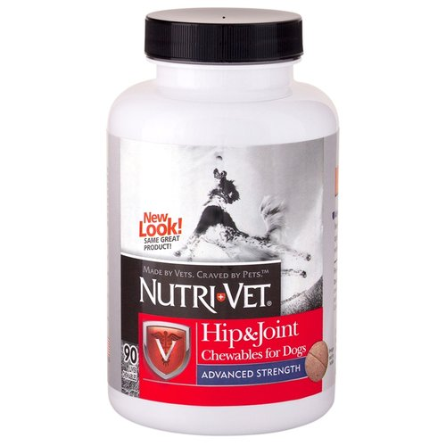 Nutri-Vet Hip & Joint Chewables for Dogs - Advanced Strength 90 Count