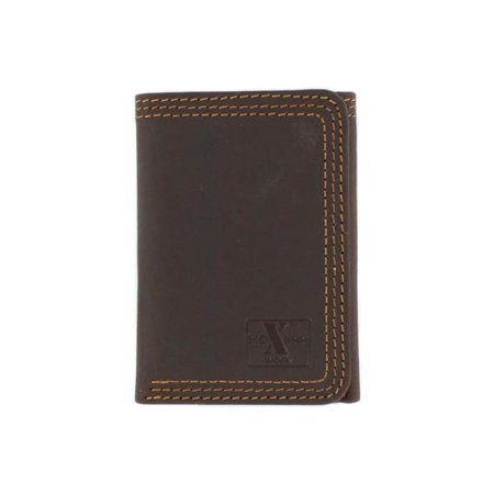 Nocona Men's HDX Trifold Triple Heavy Duty Stitching Wallet Brown OS