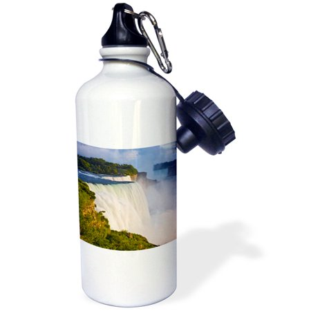 3dRose NY, Niagara Falls, American Falls, Horseshoe Falls - US33 BJA0029 - Jaynes Gallery, Sports Water Bottle, 21oz
