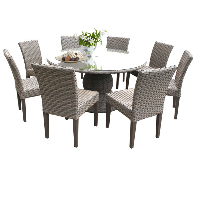 Oasis 60 Inch Outdoor Patio Dining, 60 Round Outdoor Dining Table