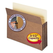 "Smead 3 1/2"" Exp Pocket, Straight Tab, Letter, Manila/Redrope, 25/Box -SMD73224"