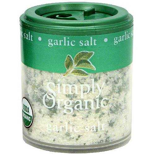 Simply Organic Garlic Salt, 1.06 oz (Pack of 6)