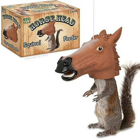 Make Fake Head Halloween (Accoutrements Horse Head Squirrel Feeder Halloween)