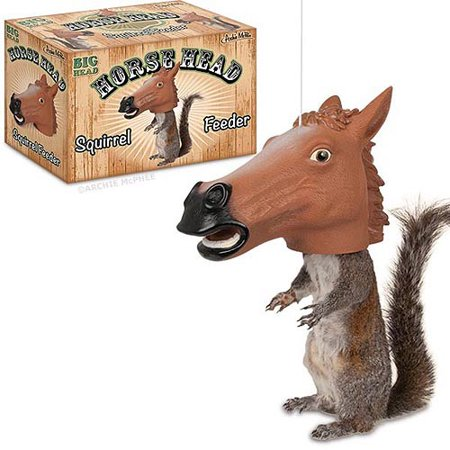 Halloween Accessories For Women (Accoutrements Horse Head Squirrel Feeder Halloween)