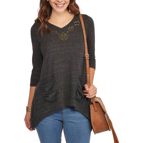French Laundry Women's Embellished Tunic with Front Pockets