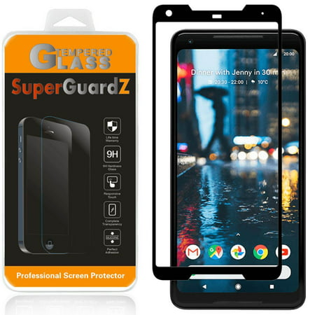For Google Pixel 2 XL - SuperGuardZ 3D Curved [FULL COVER] Tempered Glass Screen Protector, 9H, Anti-Scratch, Anti-Bubble, (Best Google Pixel 2 Xl Screen Protector)