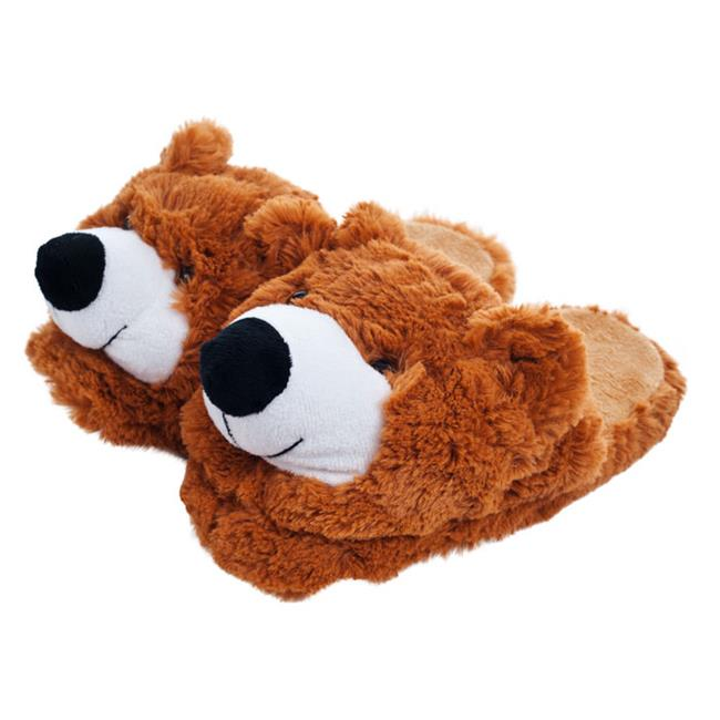 Kids Cuddlee Slippers, Teddy Bear, Ages 6-12