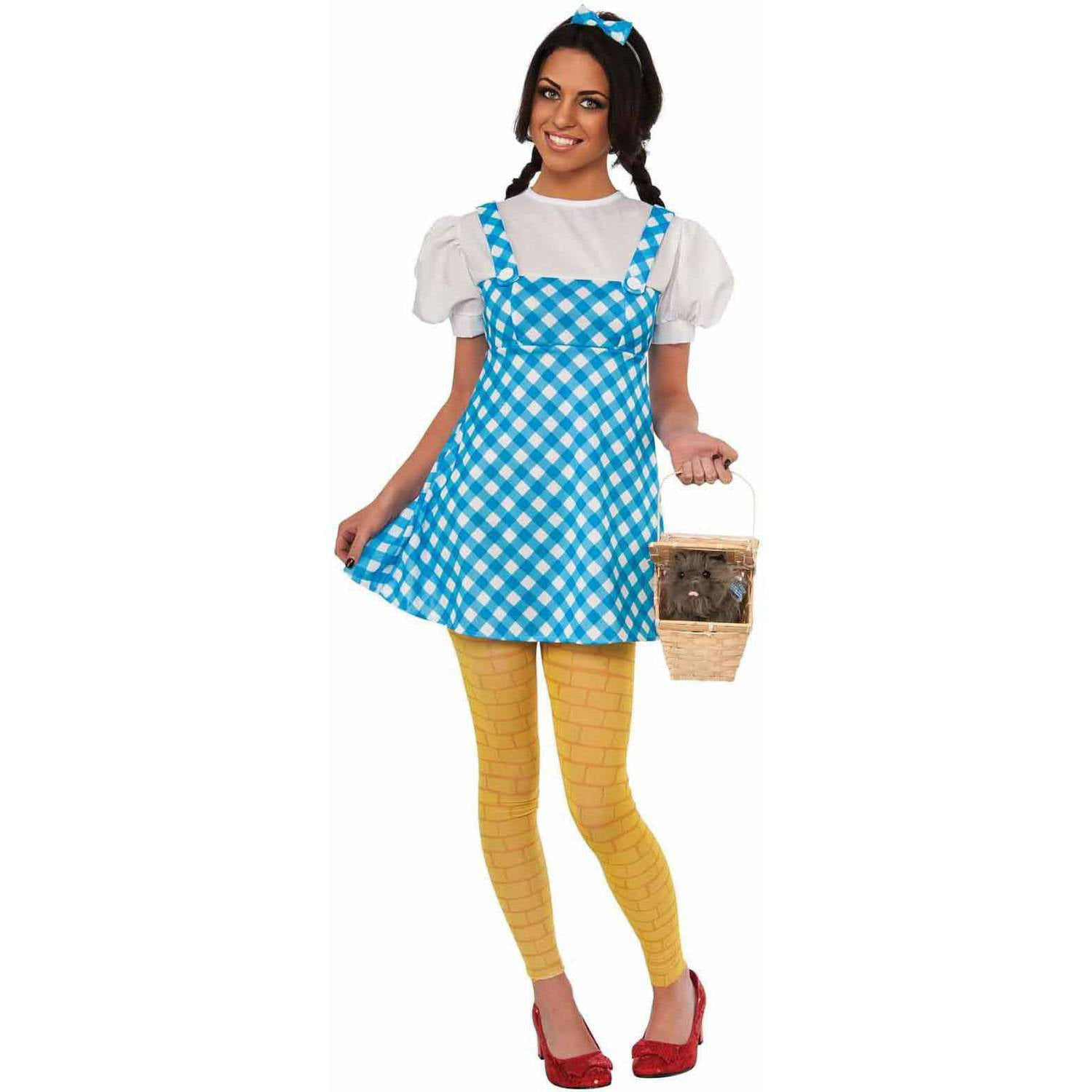Wizard Of Oz Young Adult Dorothy Dress Womenu0027s Adult Halloween Costume - Walmart.com  sc 1 st  Walmart : dorthy costumes  - Germanpascual.Com