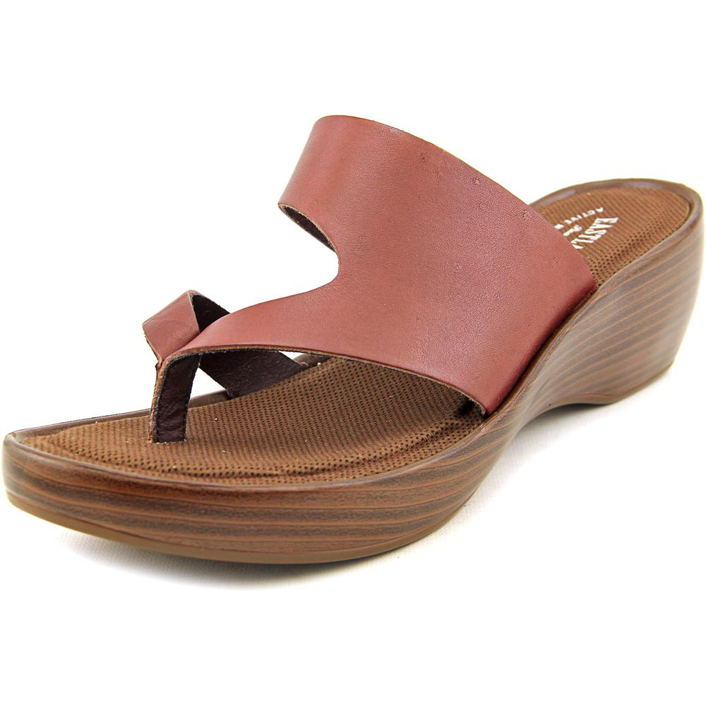 Eastland Laurel Women Open Toe Leather Wedge Sandal by Eastland