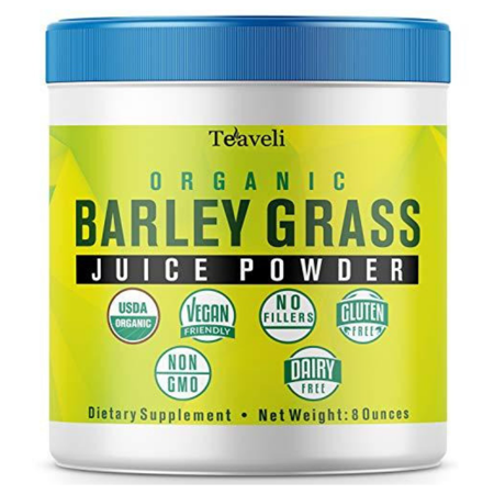 Premium Organic Barley Grass Juice Powder– Delicious Green Superfood & Powerful Barley Grass Juice Extract– 8 Ounces of Non-GMO Utah Grown Barley Grass Powder- Perfect Enzymes & Chlorophyll Supplement ()