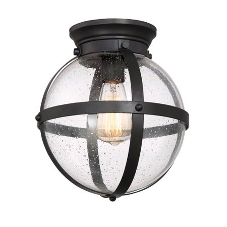 River Station Oil Rubbed Bronze One-Light Flush Mount - Flush Mount Sub Station
