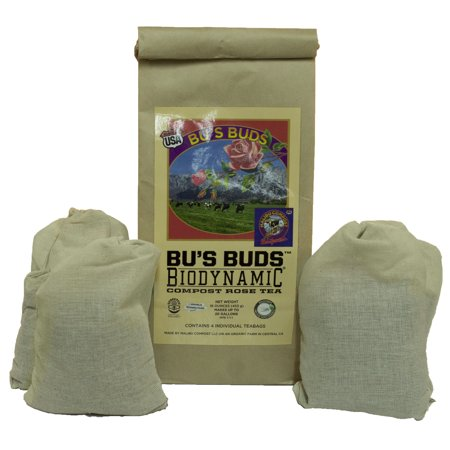 Malibu Compost Bus Buds Biodynamic Compost Rose Tea Bags - The