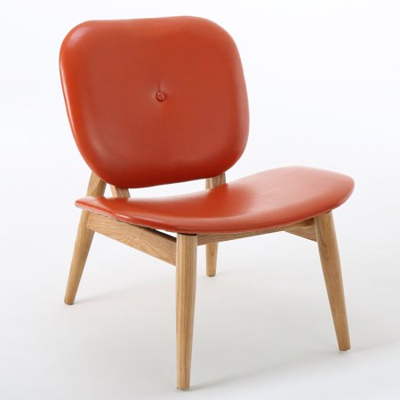 Ander Leather Accent Chair Burnt Orange