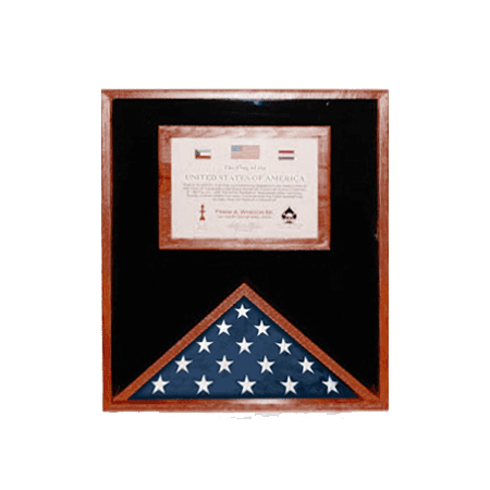 Flag Display Cases with Certificate Holder](Flag Holder Case)