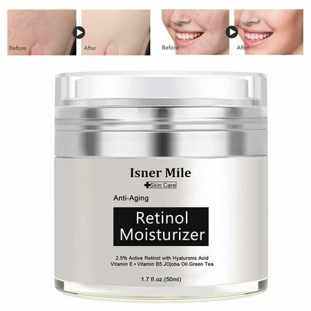 Retinol Cream for Face - Retinol Moisturizer Anti-Aging Cream for Women - Wrinkle Cream - Face Cream with Retinol and Hyaluronic Acid