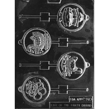 Days 5 - 8 for 12 Days of Christmas Lollipop Chocolate Mold - C140 - Includes Melting & Chocolate Molding Instructions ()
