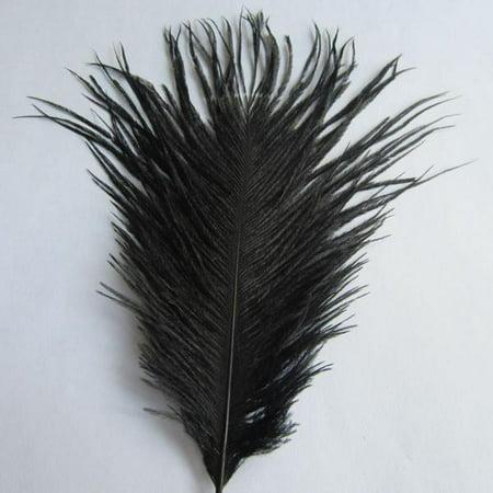 Ostrich Feather Decorative Centerpiece, 15-Inch, 1-Piece, Black (Black Ostrich)