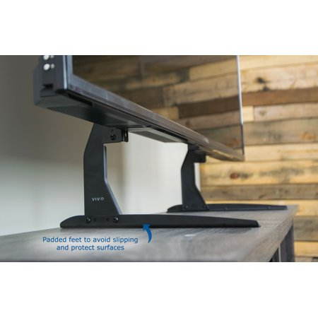 VIVO Universal LCD Flat Screen TV Table Top Stand / Base fits 22